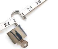 mät padlockbandet Royaltyfri Fotografi