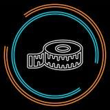 Mäta bandsymbolen, viktmätningsillustration, skalasymbol royaltyfri illustrationer