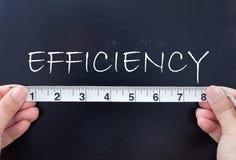 Mäta effektivitet arkivfoton