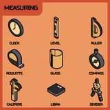 Mäta isometriska symboler för färgöversikt Arkivbild