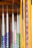 Mäta tillverkade stearinljus royaltyfria bilder