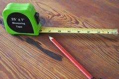 mätande blyertspennaband Fotografering för Bildbyråer