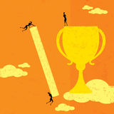 mätande framgång stock illustrationer