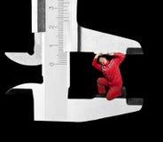 mätande mekaniker för klämmakrom arkivbilder
