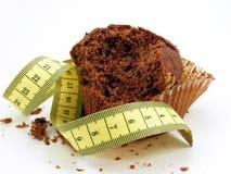 mätande muffinband för choklad Royaltyfria Bilder