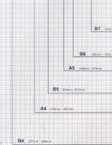 mätande paper scale för skärare royaltyfri bild