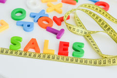 Mätning av försäljningsbegreppet Arkivbild