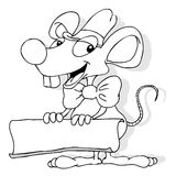 Mäusefahne lizenzfreie abbildung