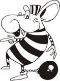 Mäusegefangener. Karikatur Lizenzfreies Stockbild