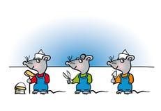 Mäuseheimwerkerkarikatur Lizenzfreie Stockbilder
