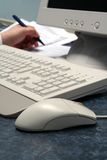 Mäusehintergrund-Schreiben stockfotografie