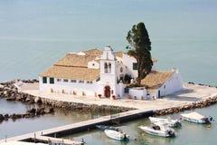 Mäuseinsel, Korfu, Griechenland lizenzfreie stockbilder