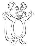 Mäusekarikatur Stockfoto