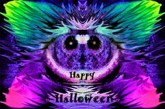 Mäusekobolde wünscht glückliches Halloween, grafic, experimentell stockbild