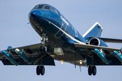Mål för Dassault falk som 20 bogserar nivån royaltyfria bilder
