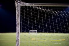 Mål för fotbollboll Royaltyfria Bilder