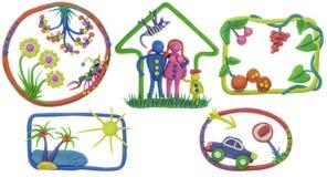 mål för livstid för hus för bilfamiljträdgård min rest Fotografering för Bildbyråer