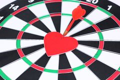 mål för pilhjärtaförälskelse Arkivbild