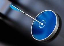 mål för plan för pilpilmarknadsföring Arkivfoton