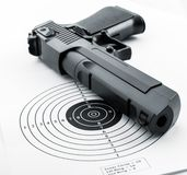 Mål och vapen Fotografering för Bildbyråer