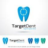Mål tand- Logo Template Design Vector Royaltyfri Fotografi