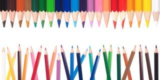 Måla blyertspennor Royaltyfri Foto