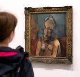 Måla bysten av kvinnan från Pablo Picasso i moderna Tate, London Royaltyfria Foton