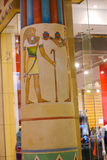 Måla den färgrika egyptiska templet Royaltyfri Bild
