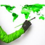 Måla den gröna världen Arkivbild