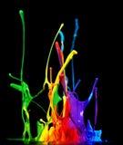 Måla färgstänk Arkivbild