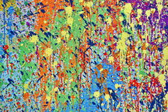 måla färgstänk Arkivfoton