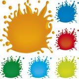 måla färgstänk Royaltyfria Foton