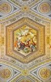 Måla för Vatican museer av Thomas Aquinas contra Gentiles för Summa fotografering för bildbyråer