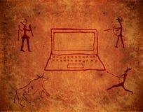 måla förhistoriskt vektor illustrationer
