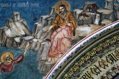 Måla från en kyrka Arkivbilder
