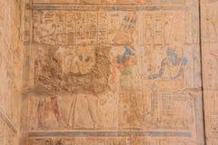 Måla i domstolen av Ramesses II arkivfoton