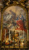 Måla inom basilika av helgonet Mary Major Royaltyfria Foton