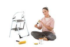 måla klart till Fotografering för Bildbyråer