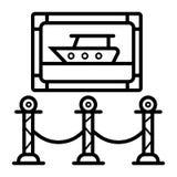 Måla konstmusemsymbolen för utställning in fine stock illustrationer