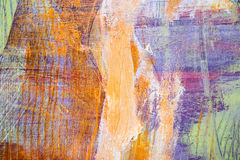 Måla konstnärlig ljus textur för olje- målarfärger för färg göra sammandrag konstverk Modern futuristisk modell för grungetapet Arkivbilder
