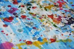 Måla livliga färgstänk för den abstrakta vattenfärgen, abstrakt idérik bakgrund för målarfärg Royaltyfria Foton