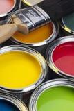 Måla och dekorera arkivfoton