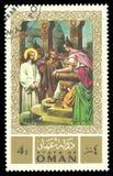 Måla på religiösa teman Royaltyfri Bild