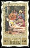 Måla på religiösa teman från livet av Jesus Christ Arkivbild