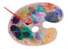 måla paletten Arkivfoton
