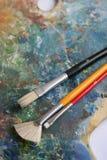 måla paletten Royaltyfria Foton