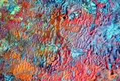 Måla röd blå pastellfärgad mjuk bakgrund, toner, vattenfärgmålarfärgbakgrund arkivfoto