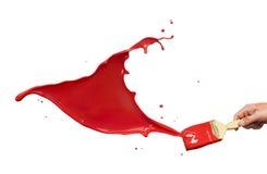 måla röd färgstänk Arkivbilder