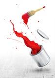 måla röd färgstänk royaltyfri bild