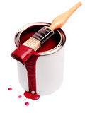 måla red Royaltyfria Foton